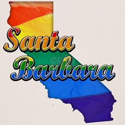 Santa Barbara, California. Gay Pride Tee