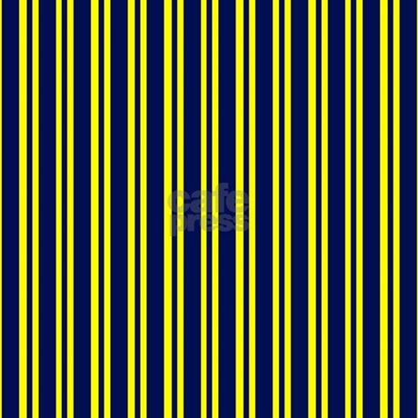 Navy Yellow Stripes Shower Curtain By PrintedLittleTreasures