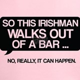An irishman walks out of a bar Performance Dry T-Shirts