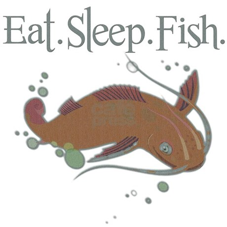 Eat sleep fish shower curtain by deluciousdesigns for How do fishes sleep