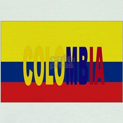 Colombia flag & Colombia name written T