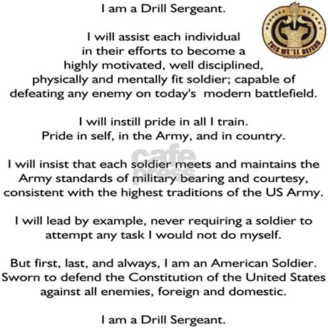 Drill Sergeants Creed Patch Square Car Magnet By Admin