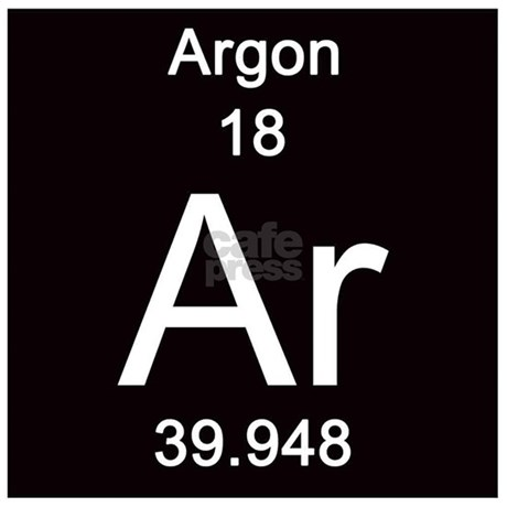 Periodic Table Argon Tile Coaster by Science_Lady
