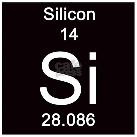 Periodic Table Silicon Tile Coaster by Science_Lady