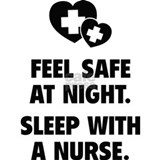 Saying feel safe at night sleep with nurse Aprons