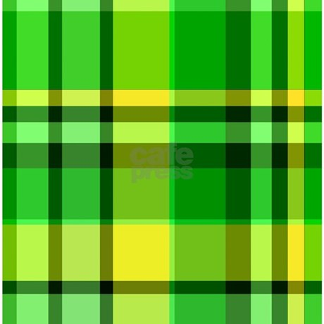 green and yellow plaid shower curtain by thecafemarket