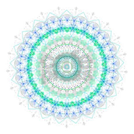 Living Green Mandala Shower Curtain By Damask Patterns