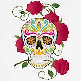 Rose skull Tank Tops
