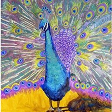 Peacock Dance Bathroom Shower Curtain