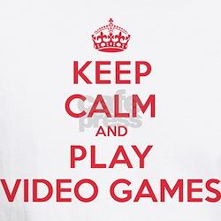 Keep Calm Play Video Games Shirt