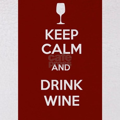 Keep calm and drink wine throw blanket by walkwithafriend