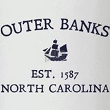 Outer Banks Established 1587 Drinking Glass