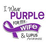 I wear purple lupus T-shirts