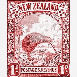 1936 New Zealand Kiwi Stamp T-Shirt