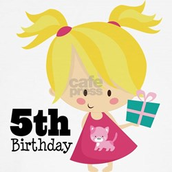 5th Birthday Party Girl T-Shirt