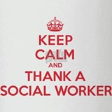 K C Thank Social Worker Drinking Glass