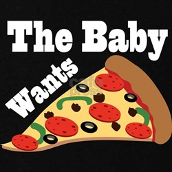 Baby Wants Pizza Pregnancy Craving T-Shirt