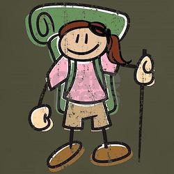 Happy Hiker Girl T-Shirt Distressed