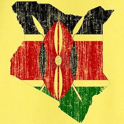 Kenya Flag And Map T