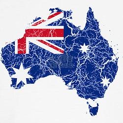 Australia Flag And Map T