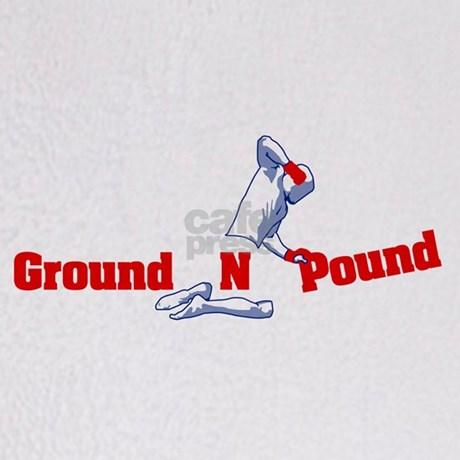 Ground N Pound Throw Blanket By Mma Things