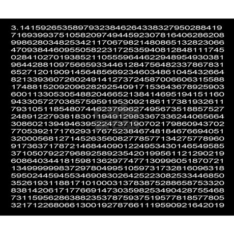 1,000 digits of pi Mousepad by shopgeek