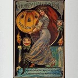 Vintage Halloween Card Drinking Glass