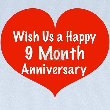 Wish Us A Happy 9 Month Anniversary Baby Blanket By