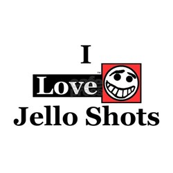 I Love Jello Shots Ash Grey T-Shirt