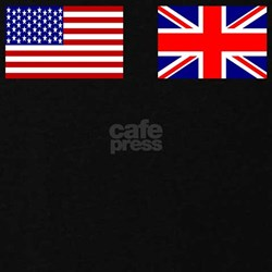 USA and UK Flags for Dark T-Shirt