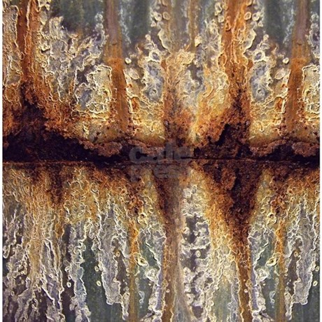 rust and corrosion shower curtain by artoffoxvox