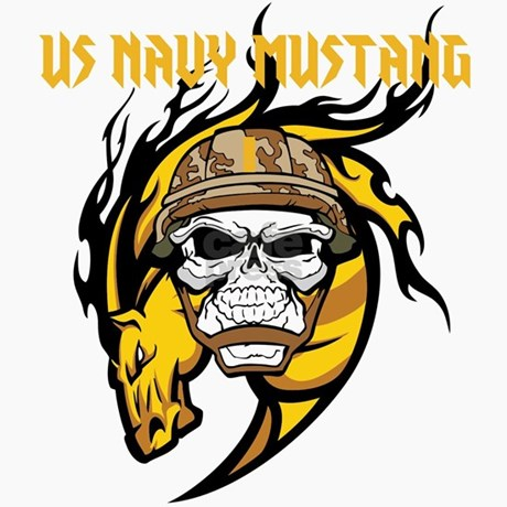 Us Navy Mustang Trucker Hat By Continentalnavy