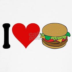 3-ilovehamburgersblk.png T-Shirt