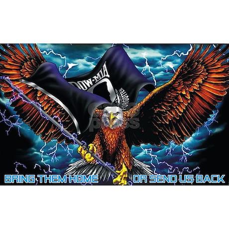 POW MIA Eagle Hitch Cover By BornRowdy