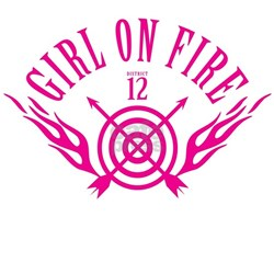 Girl on Fire (pink) WHT Tee