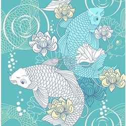 Koi fish shower for Koi fish bathroom decorations
