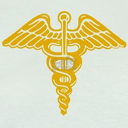 Medic: Cadaceus (gold) T