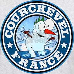 Courchevel Snowman Circle T-Shirt