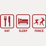 Eat Sleep Fence Shot Glass