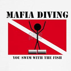 Italian Mafia Mob love diving gifts T