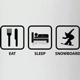 Eat Sleep Snowboard Drinking Glass