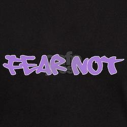 Fear Not - purple Black T-Shirt