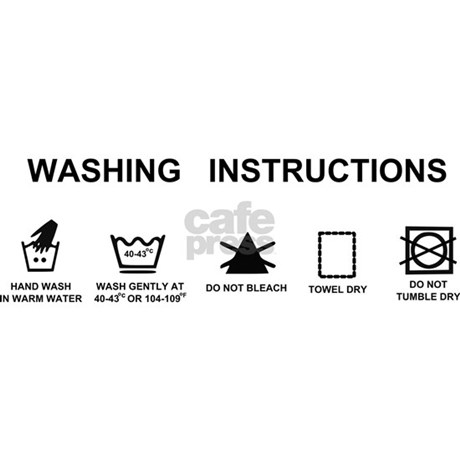 Washing instructions funny shower curtain by InspirationzStore