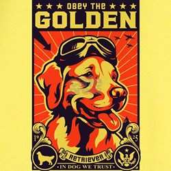 Obey the Golden Retriever! USA Ash Grey T T-Shirt