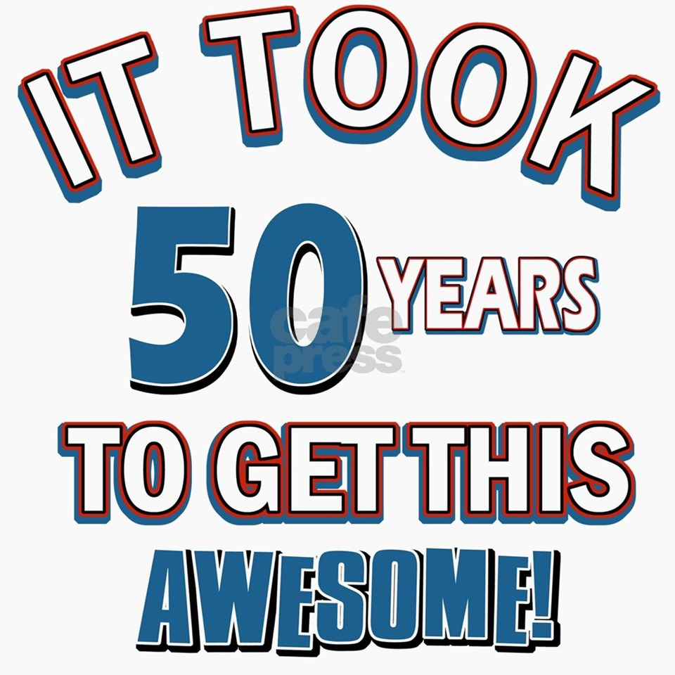 Awesome 50 Year Old Birthday Design Greeting Cards By Gotteez