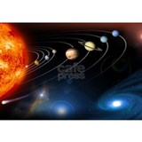Planets Wrapped Canvas Art