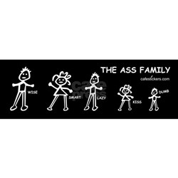 For The ass family bumper sticker