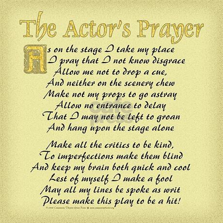 The Actor S Prayer Framed Tile By Ctgr