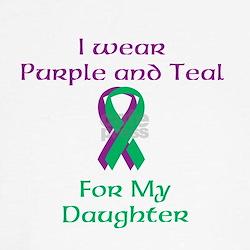 Purple and Teal Tee