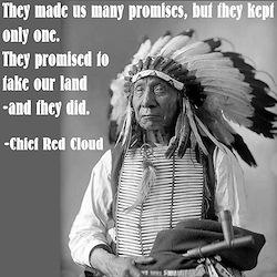 """Chief Red Cloud"" Ash Grey T-Shirt"